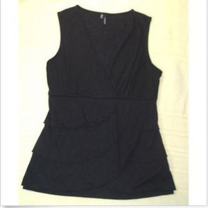Maurices Womens Black Pullover Blouse Size M